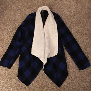 Kate Collection Jackets & Coats - Buffalo check Sherpa jacket by Kate Collection M